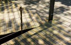 Anti slip on wooden Pathway Royalty Free Stock Images