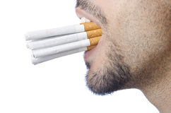 Anti smoking concept - man Royalty Free Stock Photography