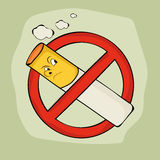 Anti smoking sign and symbol. Royalty Free Stock Photos