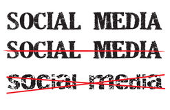 Anti-social media icon or sign Royalty Free Stock Image