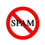 Anti Spam Sign Royalty Free Stock Photo