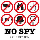 Anti-spyware icon Vector illustration Stock Photos