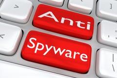 Anti-Spywarebegrepp Arkivfoton