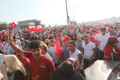Anti-staatsgreepprotest in Turkije Stock Afbeelding