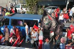 Anti-staatsgreepprotest in Turkije Stock Fotografie