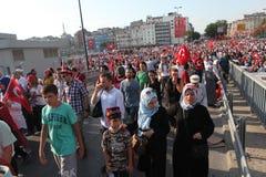 Anti-staatsgreepprotest in Turkije Stock Afbeeldingen