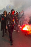 Anti-Strenge Protest, Paris Lizenzfreie Stockbilder