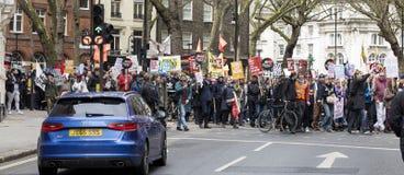 Anti-strengheid Maart stock fotografie