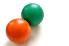 Anti-stress balls. On isolated white background Stock Image