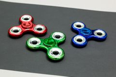 Anti stress and relaxation fidgets spinner royalty free stock photos