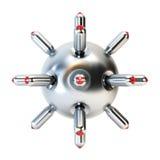 Anti-submarine bomb 3d rendering Royalty Free Stock Photography