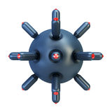 Anti-submarine bomb 3d rendering Royalty Free Stock Photography