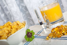 Anti swine flu breakfast Royalty Free Stock Images