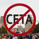 Anti symbole CETA Photographie stock