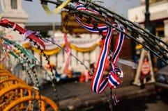 Anti symbole de protestation de gouvernement de la Thaïlande Photo libre de droits