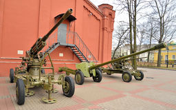 Anti-tank and anti-aircraft guns of the Second World War. Stock Images