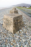 Anti Tank Cubes, Stone World War Two invasion defences. Royalty Free Stock Photos