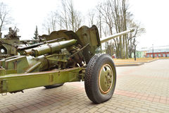 Anti-tank gun of the Second World War. Stock Photos