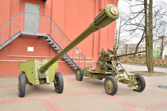 Anti-tank gun of the Second World War. Royalty Free Stock Photo