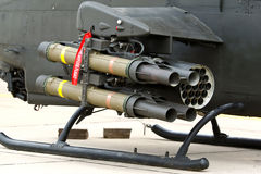Anti-tank missile on helicopter Stock Image
