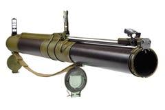 Anti-tank rocket propelled grenade launcher bazooka type. Isolated on white Royalty Free Stock Image