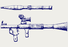 Anti-tank rocket propelled grenade launcher - RPG 7. Doodle style Stock Images