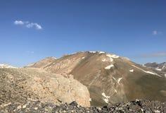 Anti-taurus Mountains. View from snow-capped and barren Anti-taurus mountains located in Aladaglar, Kayseri, Turkey Stock Images