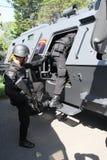 Anti-Teror-Polizei stockbilder