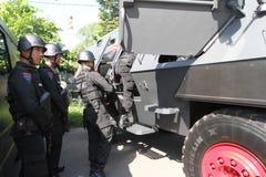 Anti-Teror-Polizei lizenzfreies stockbild