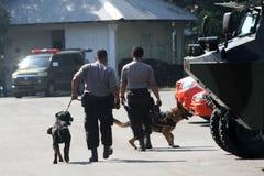 Anti-Teror-Polizei stockfoto