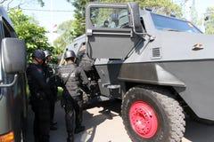 Anti-Teror-Polizei stockbild
