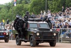Anti-terrorist unit on parade Royalty Free Stock Photos
