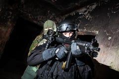 Anti-terrorist unit policeman/soldier Stock Photo