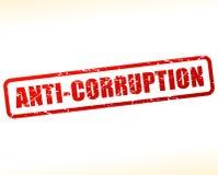 Anti texte de corruption protégé Images stock