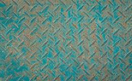 Anti textura verde do assoalho do metal do deslizamento fotos de stock royalty free