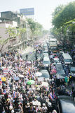 Anti - Thai government protest  Stock Image