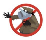 Anti theft sign Stock Photos