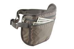Anti-theft Travel pouch, waist bag Stock Image