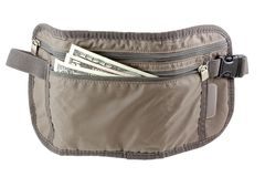 Anti-theft Travel pouch, waist bag Royalty Free Stock Photos