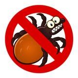 Anti tick sign stock illustration