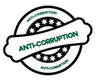 ANTI timbre noir et vert de CORRUPTION Photos libres de droits