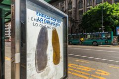 Buenos Aires, Argentina - November 18, 2018: Anti tobacco social ad poster