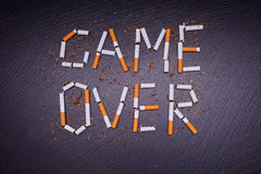 Anti-tobacco poster Royalty Free Stock Photography