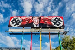 Anti-Trump Billboard stock images