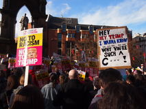 Anti Trump March in Manchester, UK Royalty Free Stock Photography