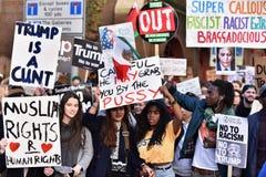 Anti Trump Protest Royalty Free Stock Photo