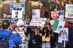 Anti Trump Protest Stock Image