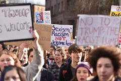 Anti Trump Protest Royalty Free Stock Photography