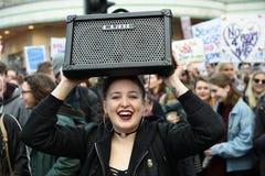 Anti Trump Protest Stock Photo