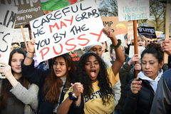 Anti Trump Protest Royalty Free Stock Images